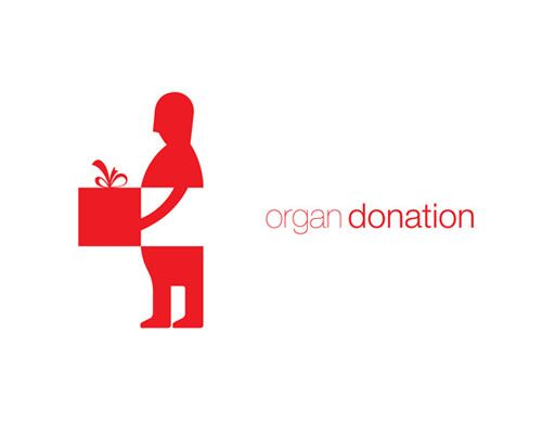 Organ donation logo design