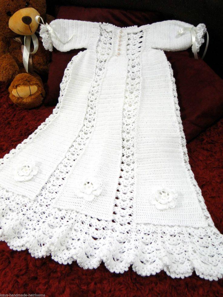 Handmade Heirloom Crochet Unisex Baby Full Length
