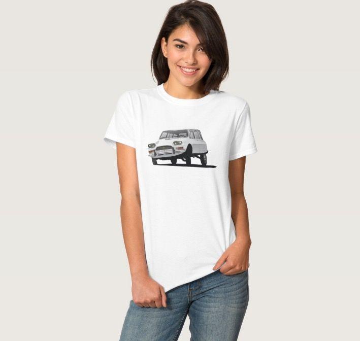 CItroën Ami 8 T-shirt in Zazzle.  http://automobile-t-shirts.blogspot.fi/2016/05/citroen-ami-8-break-t-shirts-and-gifts.html  #citroen #citroenami #ami8 #illustration #carillustration #automobile #classiccar #citroën #citroënami #tshirt #zazzle #70s