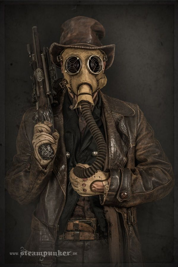 These incredible steampunk costumes are works of art. Each was handcrafted from materials like copper, brass, steel, wood, leather, and glass. They were all made by Steampunker who also sells the costumes and components so you can create your own mind blowing steampunk look.
