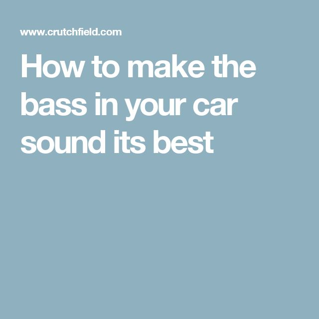 The 7 best Car Audio images on Pinterest   Car audio systems, Car ...