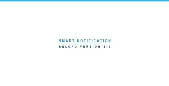 Smart Notification Reload | jQuery Plugin . Smart Notification  is a jQuery plugin. It is an advanced pop-up notifications. With the ability to add video,image,form etc.You can add a feature which will allow you to call notification windows by clicking on a picture, text, button … (You can call the notification without the button)You can