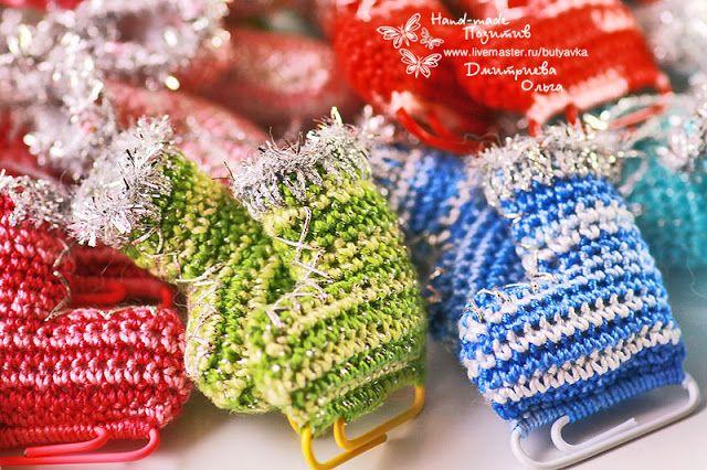 "Hand Made Позитив: ""Коньки"" - Сувенир / Брелок #crochet #amigurumi #bijou #handmade #souvenir"