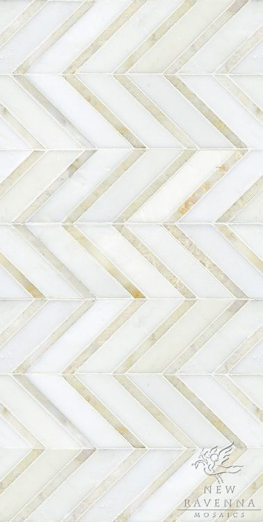 Gold  White Chevron Floor Tile Or Wall Tile