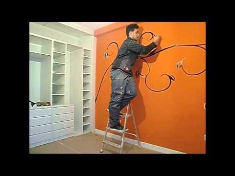 DIY WALL ART - DISEÑO DE PARED ENREDADERA - YouTube