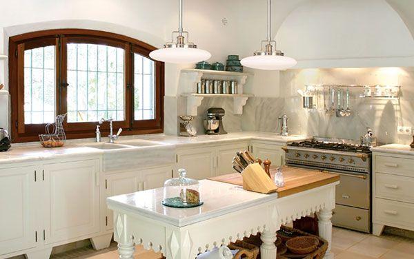 all white: Victorian Kitchens, Style Kitchens, Kitchens Design, All White, Steampunk Kitchens, Modern Victorian, Kitchens Lights, Country Kitchens, Farmhouse Kitchens