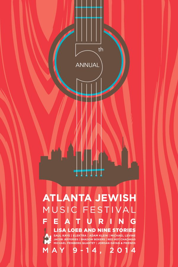AJMF Poster Design by Katherine Konzal, via Behance