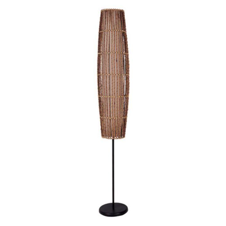 Ore International 31140F 62-in. Rattan Floor Lamp - 31140F