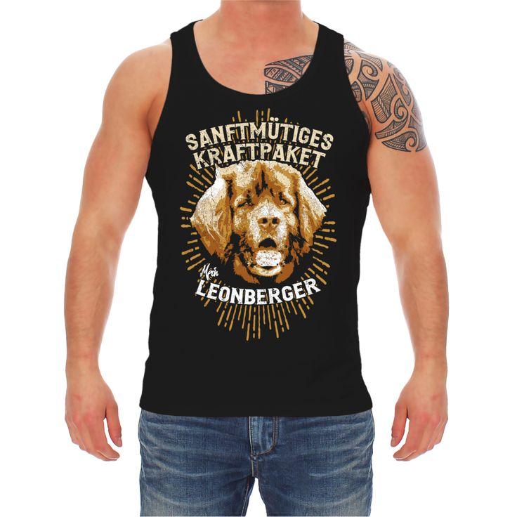 Traeger-Shirt-Tank-Top-Leonberger-Sanftmuetiges-Kraftpaket-hunde-dogs-rasse
