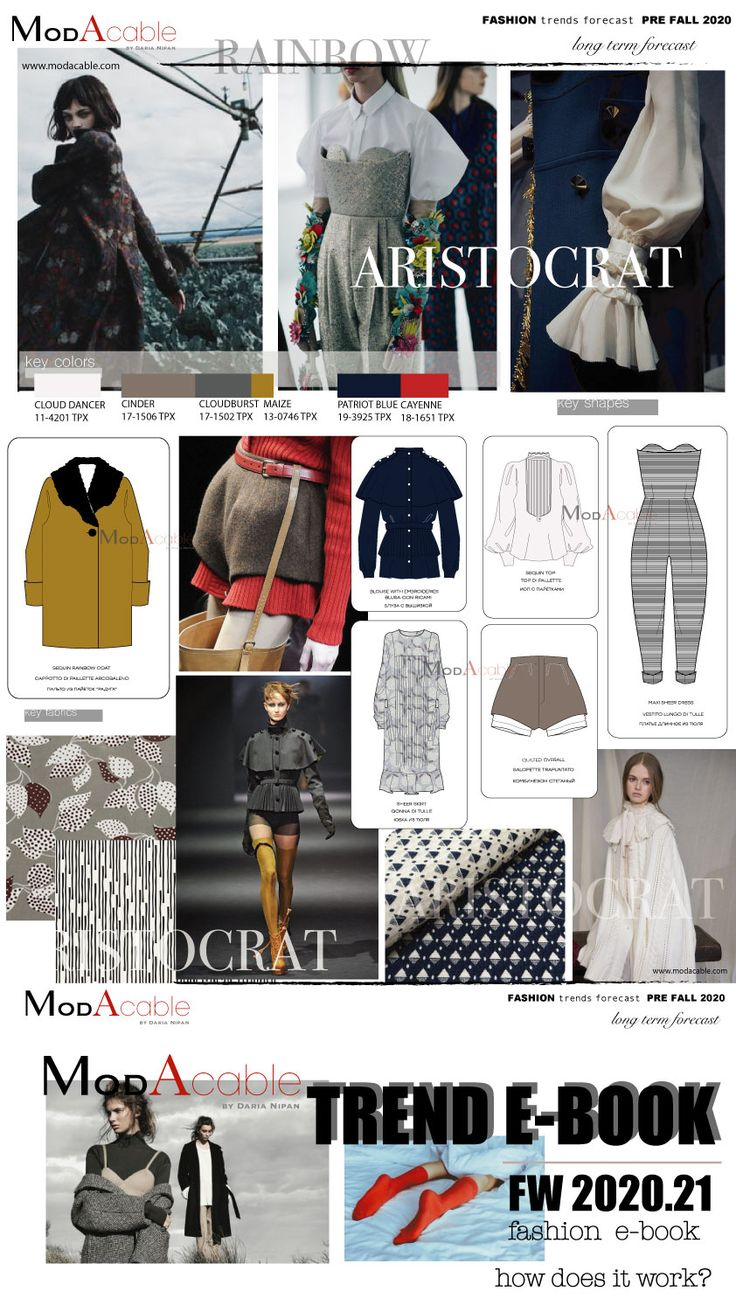 Pre Fall 2020 fashion trend Aristocrat | trends AW 2020 ...