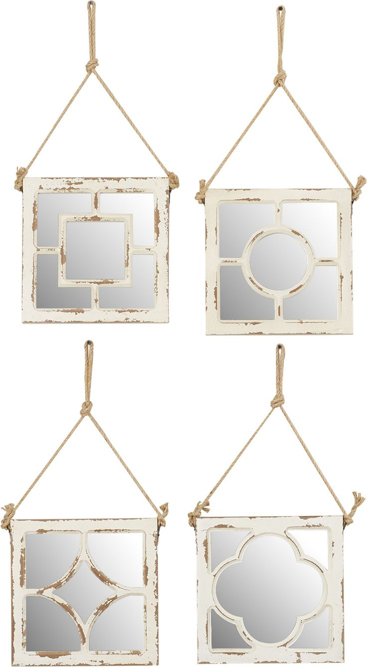 15 best wall mirrors images on pinterest mirror mirror 4 piece too cool wood wall mirror set amipublicfo Gallery