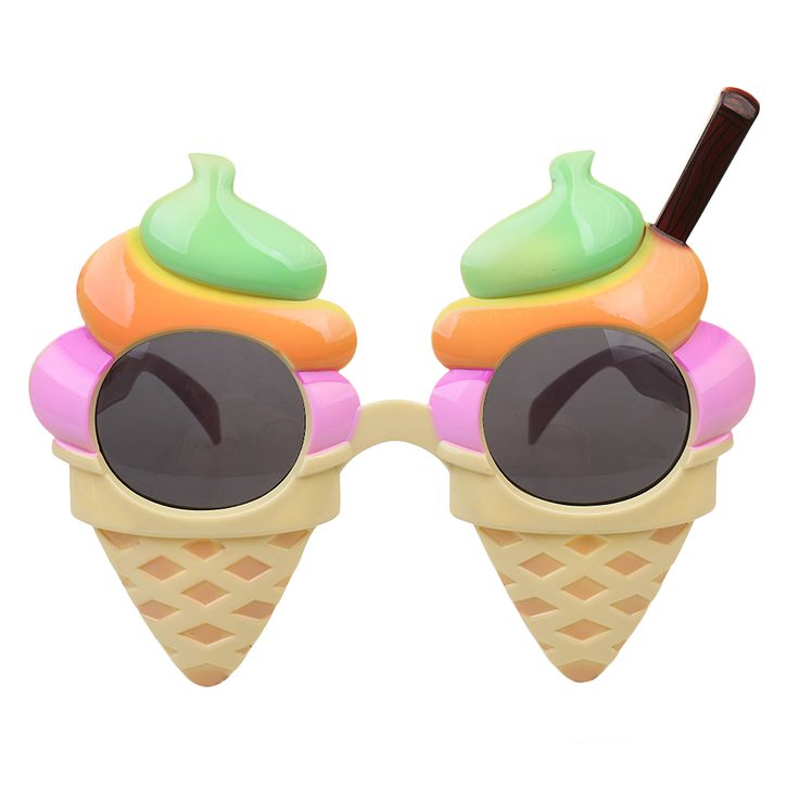 Decorative Novelty Sunglasses Ice Cream Glasses Hen Night Stag Fancy Dress Colorful Creative Party Decorations Event Supplies