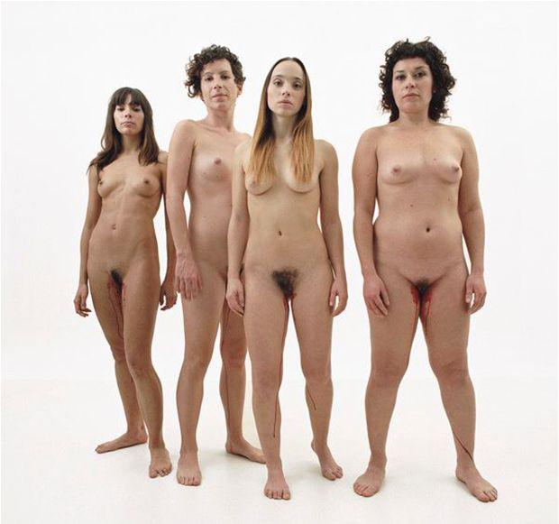 Nude female body type
