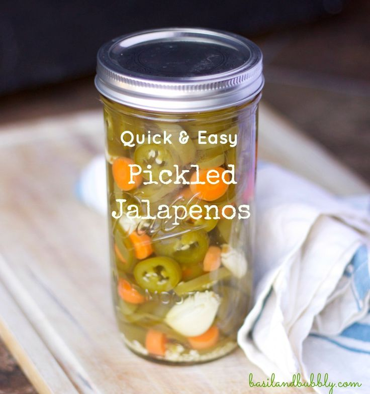 Spice up your dishes with a super easy quick-pickled recipe for homemade pickled jalapenos.