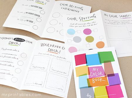 printable color book - My Color Book Printable