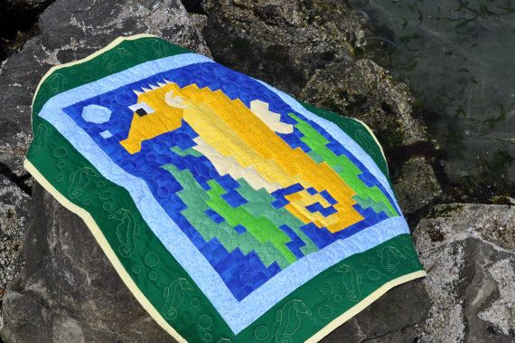 Seahorse Quilt Pattern With 3 Sizes Pdf Etsy