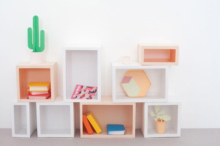 DIY scandinavian house made of paper - Heju