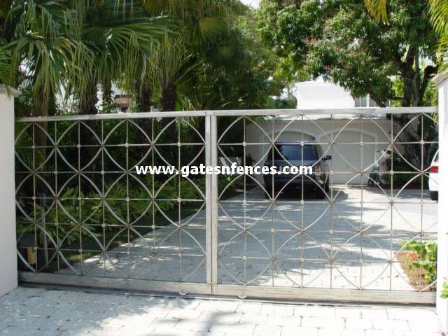 Metal Gate Aluminum Driveway Gate Metal Security Gate Custom Entrance