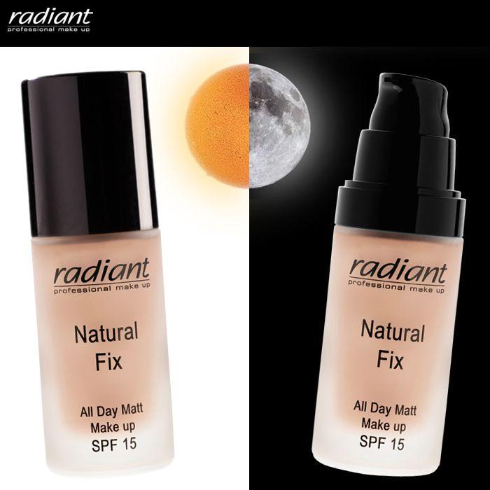 Για απόλυτα ομοιόμορφη και τέλεια ματ επιδερμίδα από το πρωί ως το βράδυ, επιλέξτε το Natural Fix Make Up. #Day #Night #Makeup #Radiant #Professional #Natural #Fix