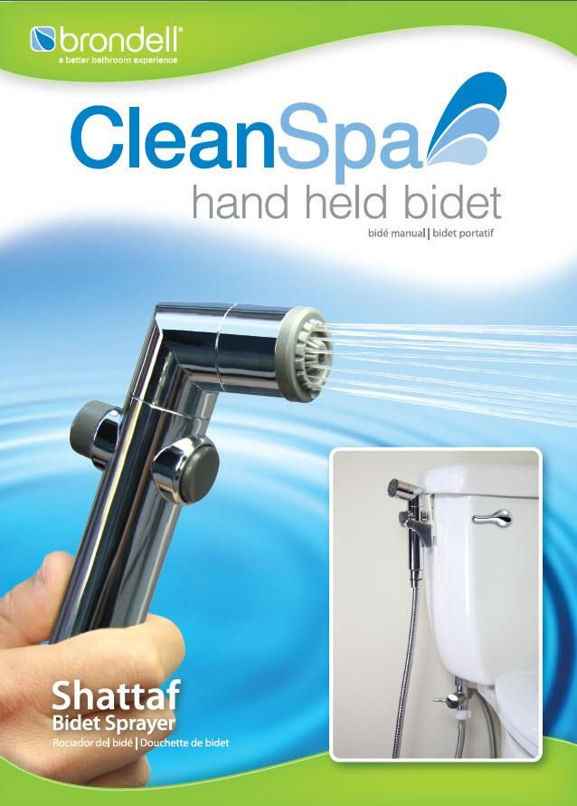 Brondell Cs 30 Cleanspa Hand Held Bidet Sprayer With Images