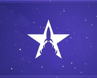 #NegativeSpace #LogoDesigns - Star Rocket