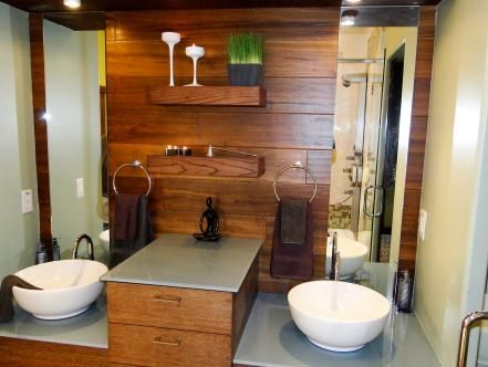 Great ideas for beautiful bathrooms. Browse the photo gallery of gorgeous sinks and vanities from DIY Network's best bath remodels.
