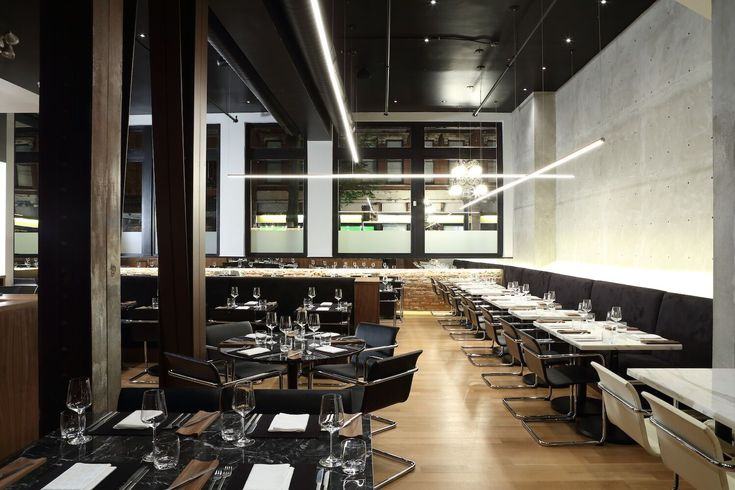 See how concrete, brick and leather come together inside Vancouver's #Bauhaus restaurant. #WLDesignCrush