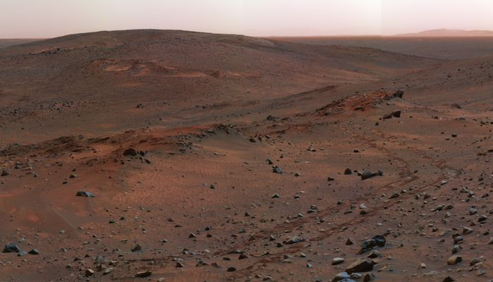 Picture of mars, taken by the Spirit Rover  (desktop/laptop)Click the image to download the correct size for your desktop or laptop in high resolution