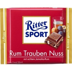Seriously the worlds most perfect candy bar!  Ritter Sport Rum Raisins Hazelnut Chocolate 100 g