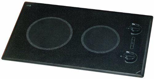 Kenyon B41510 6-1/2 and 8-Inch Mediterranean 2-Burner Cooktop with Analog Control UL, 120-volt, Black