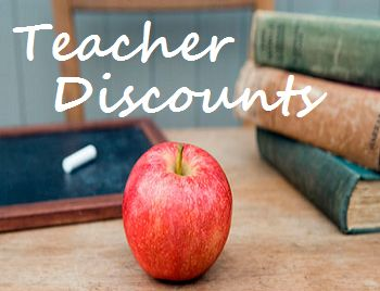 Here is a list of businesses offering teacher discounts.  Enjoy!  Terry