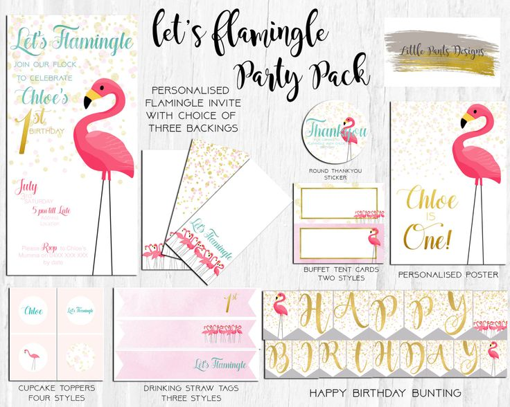"""Flamingo """"Let's Flamingle"""" Digital Party Pack Invite for Birthday Pink Gold Aqua Watercolour DIY Printable Watercolor Pastel Girly Pretty by LittlePantsDesigns on Etsy https://www.etsy.com/listing/463050115/flamingo-lets-flamingle-digital-party"""