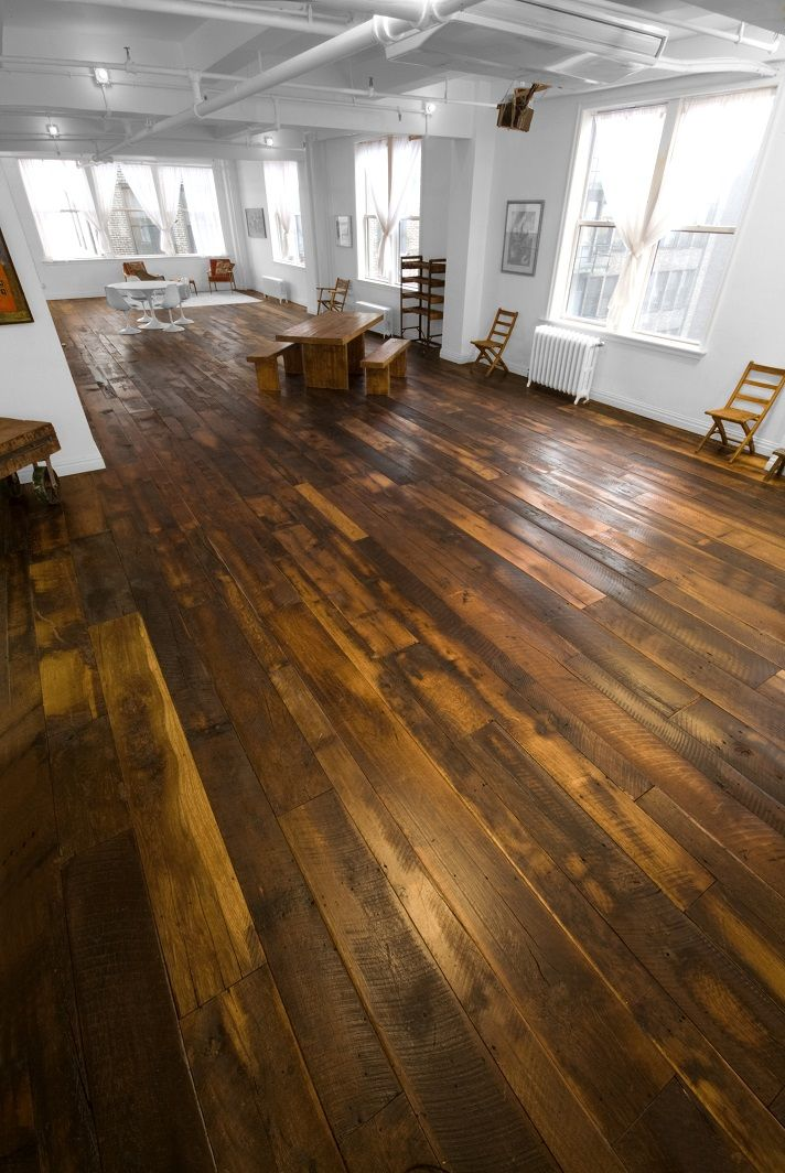 Our Reclaimed Wide Plank Wood Flooring In A Loft In Nyc