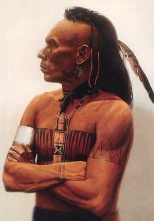 Cherokee Indian Warrior from Oklahoma, Wes Studi, was also a famous actor.
