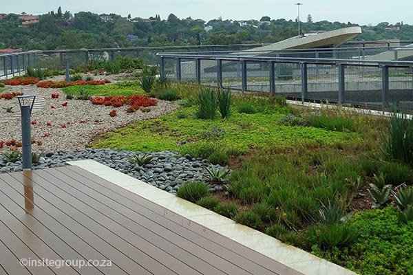 Green roof design at SANRAL, South Africa, by Insite landscape architects.