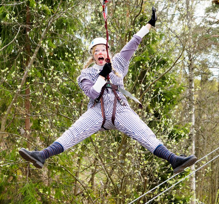 Liu'un hurmaa Huipussa. The thrill of ziplining. #seikkailupuisto #treetopadventure #espoo #finland