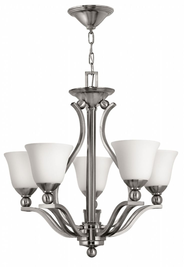 The Elstead Lighting Bolla 5 Light Chandelier By Hinkley Is Available From Luxury Ceiling In A Brushed Nickel Finish