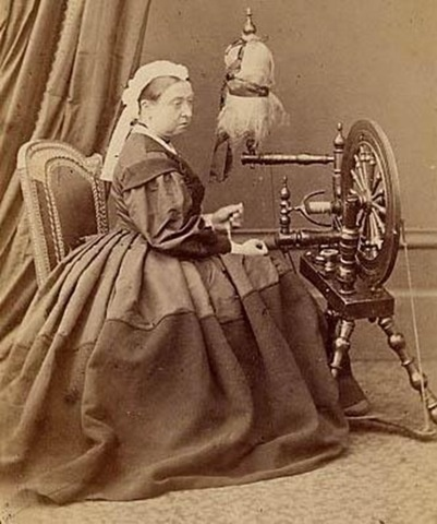 Queen Victoria at the spinning wheel