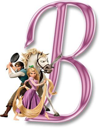 Alfabeto de Enredados (Rapunzel). - Oh my Alfabetos!
