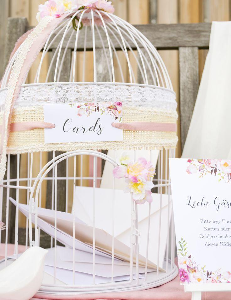Der Vintage Vogelkäfig als Briefbox und die Bitte um Geldgeschenke