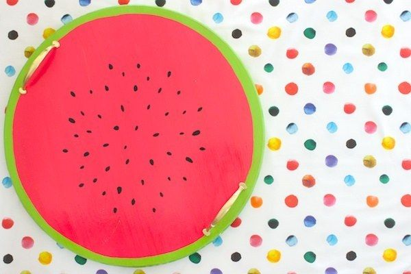 Make a watermelon serving tray that'll be perfect for any summer BBQ. | 35 Completely F*cking Awesome DIY Projects
