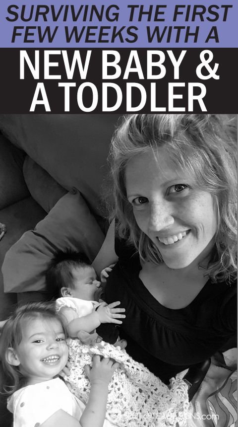 Tips to surviving the first few weeks with a new #baby and #toddler. #parenting advice | spotofteadesigns.com