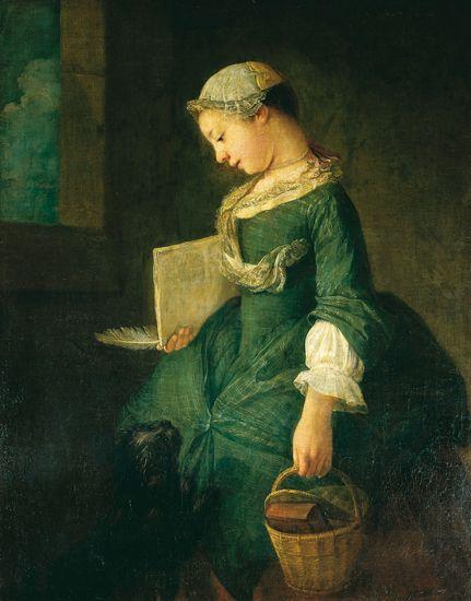 Le Retour de l'école (XVIIIe siècle). Huile sur toile de Jean Siméon Chardin. (Musée du Louvre, Paris.)