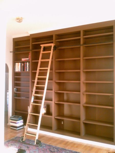 Spirewood Studio Residential Work Tall Bookcases With Ladder