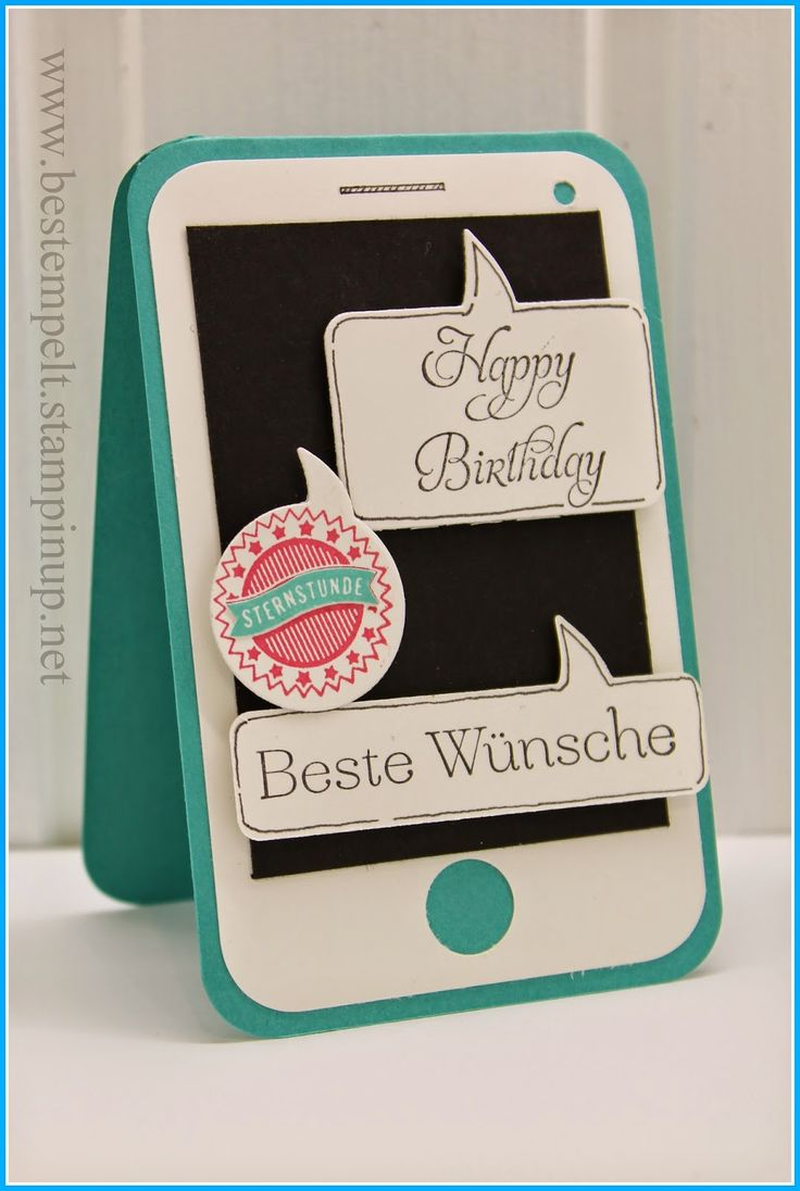 So Megan...Stampin Up! Sprechblasen, Smartphone-Card, Birthday Teen, Sprüchefeuerwerk