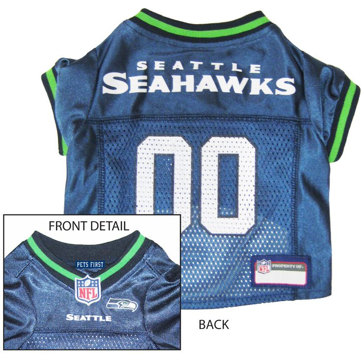 ... Seattle Seahawks NFL Licensed Pet Dog Football Jersey ... be1e4172d