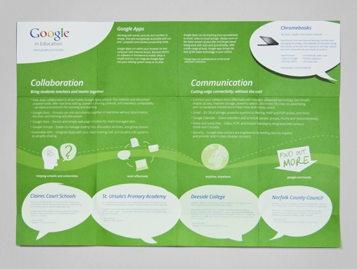 The Google in Education leaflet folded out to a poster for use by educators.