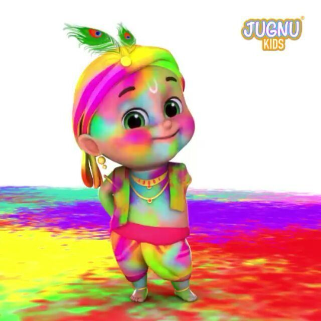 Happy Holi Happy Holi Baby Cartoon Drawing Cute Krishna Cartoons Krishna