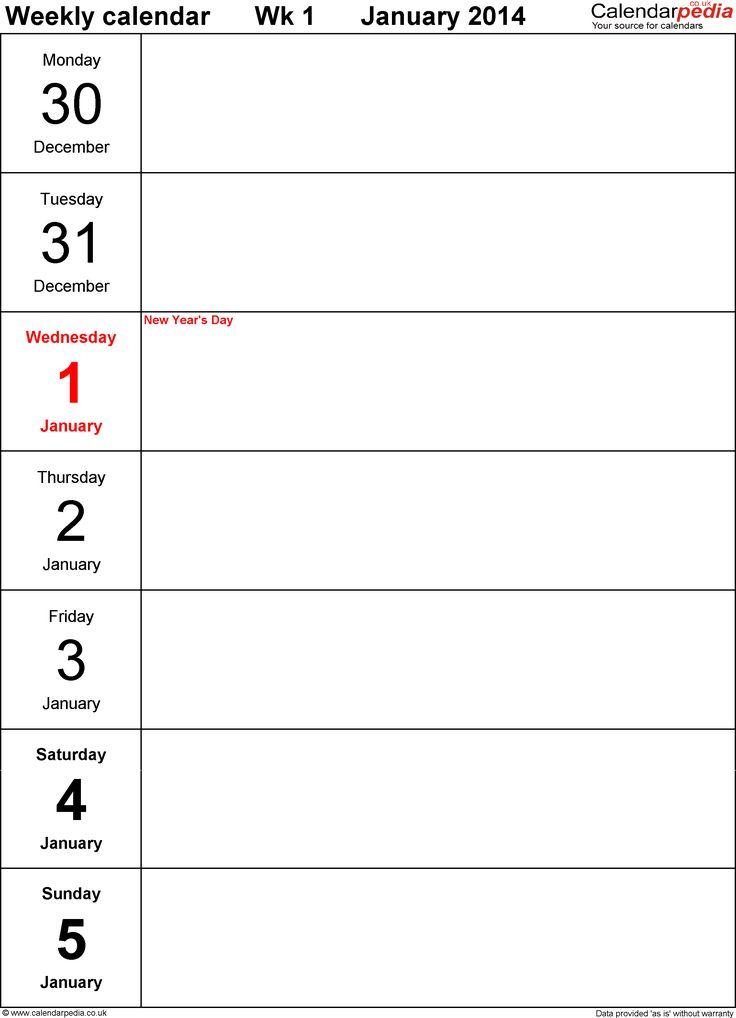 Best 25+ Weekly calendar template ideas on Pinterest