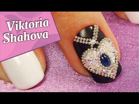 NAILS / дизайн ногтей ♥ праздничный маникюр гель-лаком / Viktoria Shahova - YouTube